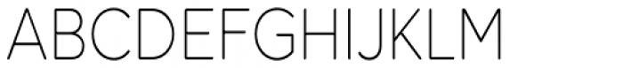 Dol Condensed 35 Extra Light Font UPPERCASE