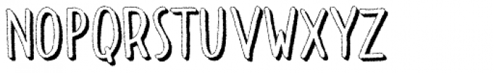 Dolce Caffe 3D Rough Font LOWERCASE