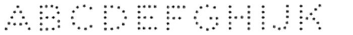 Dolcissimo Asterisks Font UPPERCASE