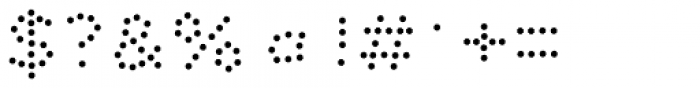 Dolcissimo Dots Font OTHER CHARS