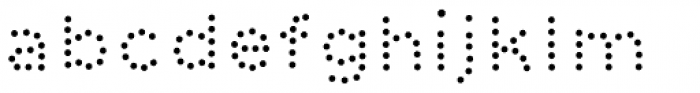 Dolcissimo Dots Font LOWERCASE