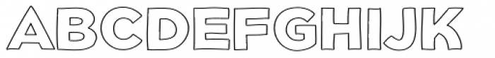 Dolcissimo Outline Font UPPERCASE