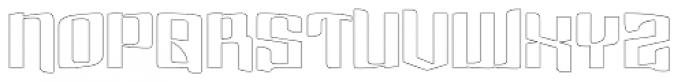 Dolsab Heavy Outlines Font UPPERCASE