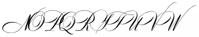 Dom Loves Mary Pro Font UPPERCASE