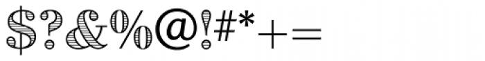 Dominus RR Modern Engraved Font OTHER CHARS