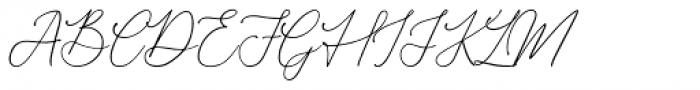 Donatellia Regular Font UPPERCASE