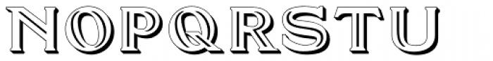 Doncaster Embossed Font UPPERCASE