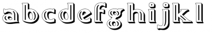 Doncaster Embossed Font LOWERCASE