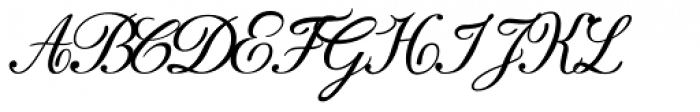 Donna Bodoni Ce Script Font UPPERCASE