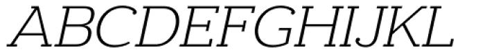 Donnerstag Light Italic Font UPPERCASE