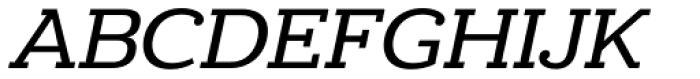 Donnerstag Medium Italic Font UPPERCASE