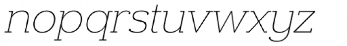 Donnerstag Thin Italic Font LOWERCASE