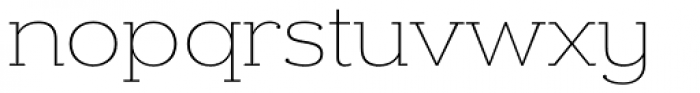 Donnerstag Thin Font LOWERCASE