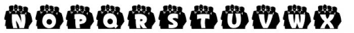 Doowop Initials JNL Font LOWERCASE