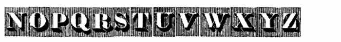 Doppel Mittel Lapidar Azure Font UPPERCASE
