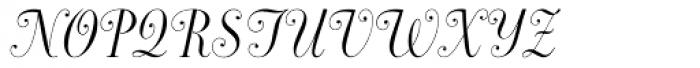 Dorchester Script MT Font UPPERCASE