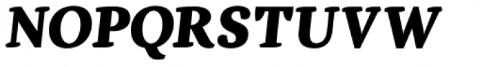 Dorica Black Italic Font UPPERCASE