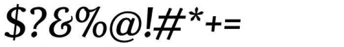 Dorica Medium Italic Font OTHER CHARS