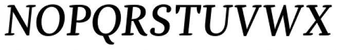 Dorica Medium Italic Font UPPERCASE