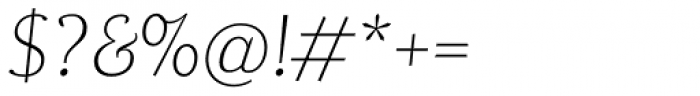 Dorica Thin Italic Font OTHER CHARS
