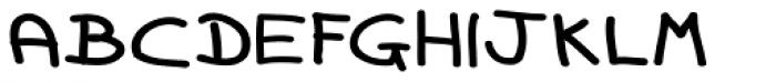 Dorkihand Expd Upright Font UPPERCASE
