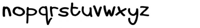 Dorkihand Expd Upright Font LOWERCASE