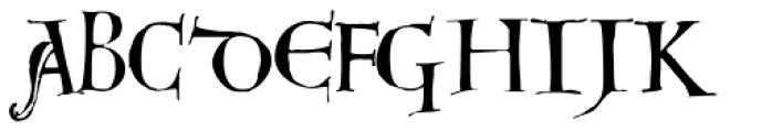 Dorsal Font UPPERCASE