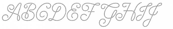 Dot Script Font UPPERCASE