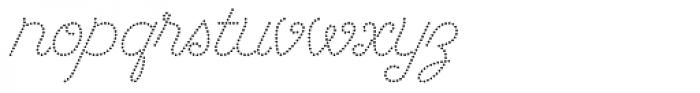 Dot Script Font LOWERCASE