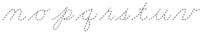 Dot To Dot Cursive Font LOWERCASE