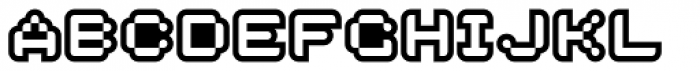 Dotage Inline Font UPPERCASE