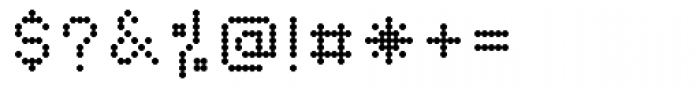 Dotto Alphabet Font OTHER CHARS