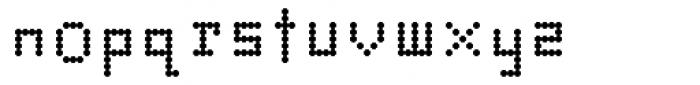 Dotto Alphabet Font LOWERCASE