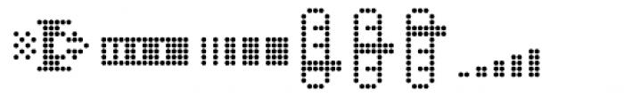Dotto Deluxe Electro Font UPPERCASE