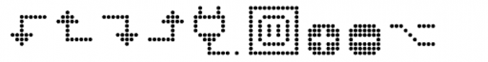 Dotto Deluxe Electro Font LOWERCASE