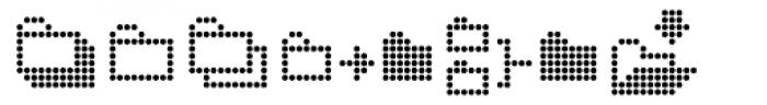 Dotto Deluxe Utillo Font LOWERCASE