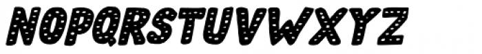 Doubledecker Dots Italic Font UPPERCASE