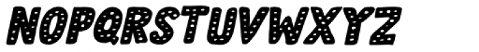 Doubledecker Dots Italic Font LOWERCASE