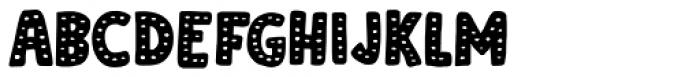 Doubledecker Dots Regular Font UPPERCASE