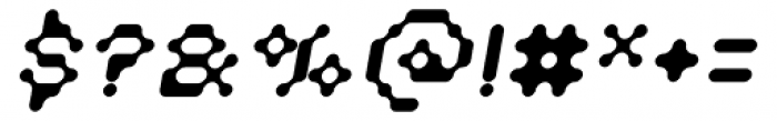 Doubleoseven Oblique Font OTHER CHARS