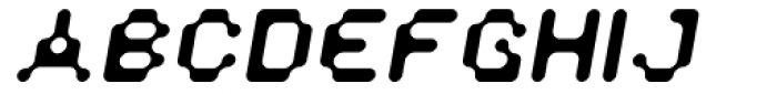 Doubleoseven Oblique Font UPPERCASE
