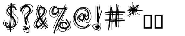 Doubler Script Plain Font OTHER CHARS