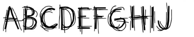 Doubler Script Plain Font UPPERCASE
