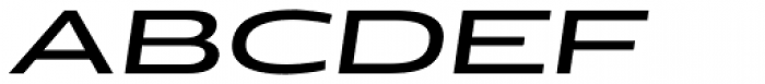 Doublewide Italic Font UPPERCASE