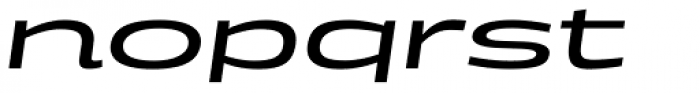 Doublewide Italic Font LOWERCASE