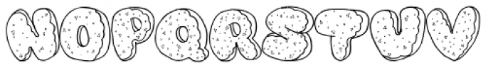 Dough Nuts Spinkled Font LOWERCASE