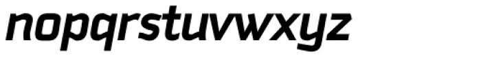 Downtempo Bold Italic Font LOWERCASE
