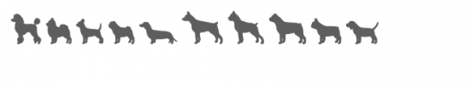 dog breeds dingbats Font OTHER CHARS