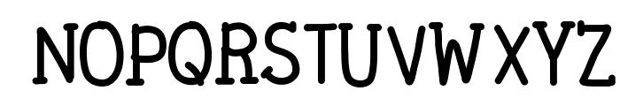 DPTypewritten Font UPPERCASE