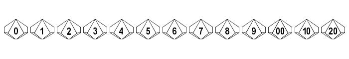 DPoly Ten-Sider Font LOWERCASE